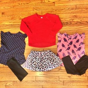Bundle of Girl's Tops & Bottoms, Size 5-7